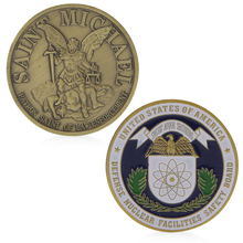 Saint Michael Badge Bronzed Plated Commemorative Challenge Coin Collection Art