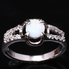 Unusual Rings Round White Fire Opal Fashion Solitaire Wholesale 925 Sterling Silver Stamped Jewelry Us# Size 6 7 8 9 SF1262