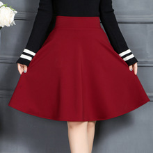 Buy Autumn Winter Korea Style A-Line Pleated Skirt Women Casual High Waist Full Skirt Sexy Black Red Mini Skirt Plus Size 2018 for $13.78 in AliExpress store