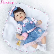 "Pursue Bebes Reborn Dolls Reborn Toddler New Cotton Body Silicone Limbs Dolls for Boys Girls bebe Reborn Real for Sale 16""/42cm"