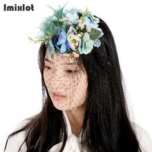 Fashion Cap Flower Headwear Hairpins Festival Party Prom Hair Clip Artificial Flowers Hairpin Hair Accessories Women Barrettes