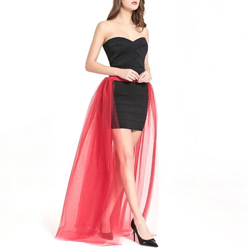 Nach Maß Tüll Hochzeit Overskirts Hohe Taille Bodenlangen 4 Schichten Tüll Abnehmbare Rock für Prom Party Kleider Overlay