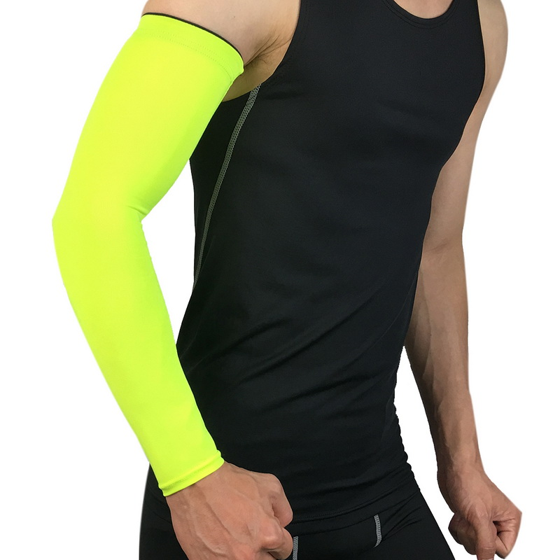Apparel Accessories Laamei Breathable Quick Dry Arm Sleeves Uv Protection Compression Running Basketball Elbow Pad Fitness Sports Arm Warmers Men's Accessories