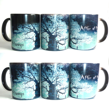 Light Magic after all this time mugs heat changing color Tea Cup transforming black magic morphing coffee mug for friend gift(China)