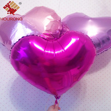 Hourong 10Pcs/Pack 10inch Foil Heart Balloon Wedding Inflatable Helium Birthday Balloon New Year Party DIY Wedding Decoration