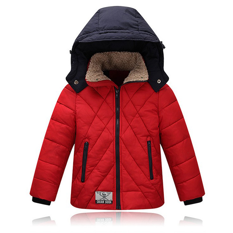 2017 Winter Jacket Boys Parka Coat Warm Baby Girl Snowsuit Thick Hooded Childrens cotton Jacket free shippingОдежда и ак�е��уары<br><br><br>Aliexpress
