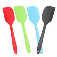 High Quality 27.5cm Colorful Integrated High Temperature Resistance Silicone Spatula Baking Rubber Scraper Pasta Cooking Tools(China)