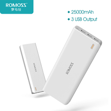 25000mAh ROMOSS Sense 9 External Power Bank Three USB Charging Port For Smartphones Table PCs External Battery Charger For Phone(China)
