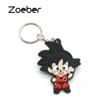 Zoeber 2017 Hot Anime Dragon Ball key chain cartoon Luffy naruto KeyChain Animal Tokyo Ghoul Wukong chains bag Joba Key Ring(China)