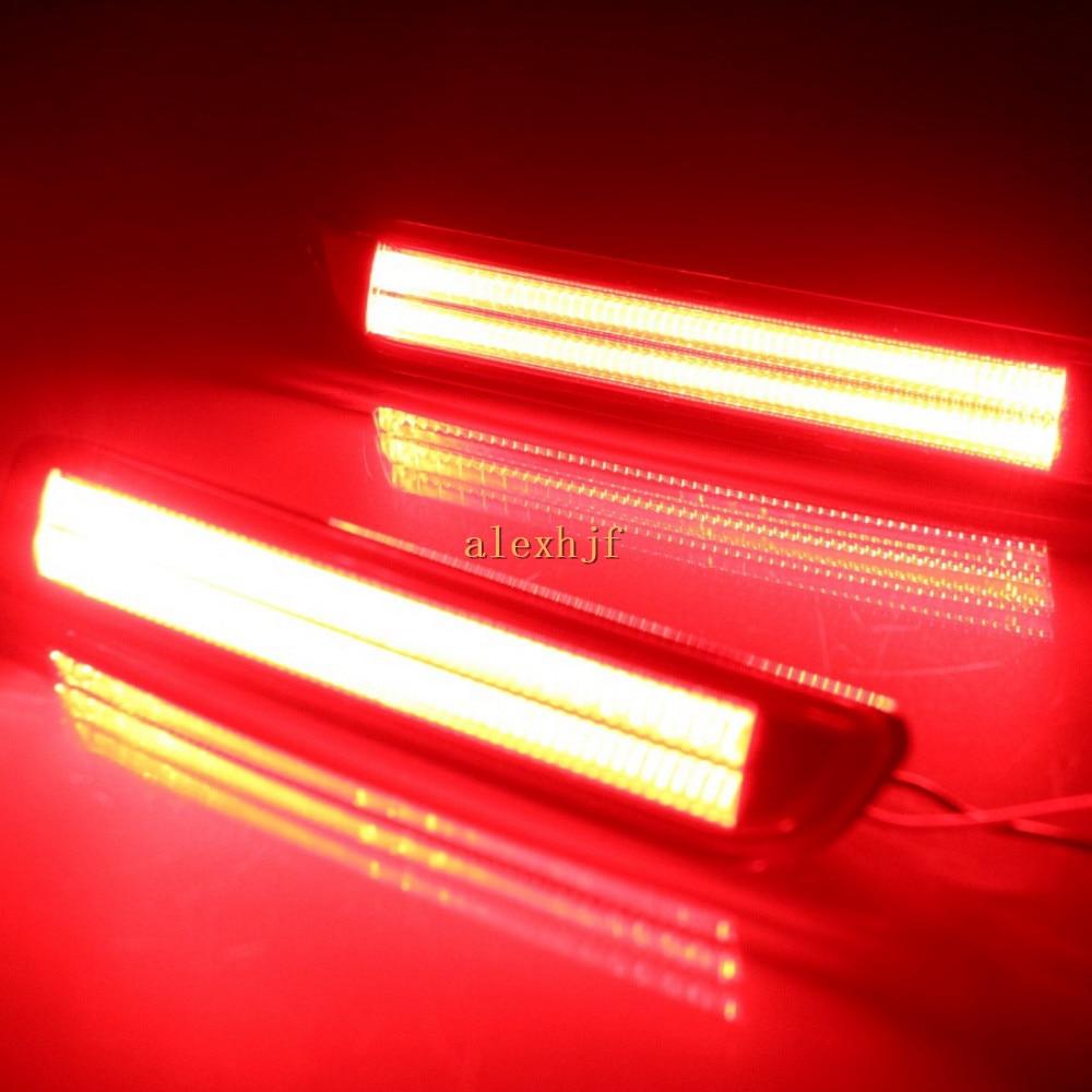 July King Car LED Brake Llights, LED Rear Bumper Fog Lamp Case for Suzuki SX4 2007~2017 Vitara 2015~16, Night DRL+ Brake Lights<br>