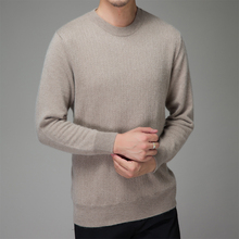 Men Sweater Big size 100% CASHMERE Pullover Hot Sale New Fashion O-neck Jumpers Man Pure Cashmere Knitted Clothes Standard Tops