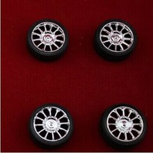 DIY 26mm rubber wheel wheel technology small production four-wheel drive model
