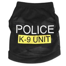 New Small Dog Vest Police Puppy T-Shirt Coat Clothes Summer Apparel Costumes OZ(China)