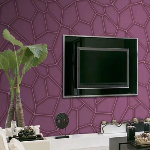 3D Wallpaper Watercubic Purple Non-woven Wall Paper for Living Room Home Decoration<br><br>Aliexpress