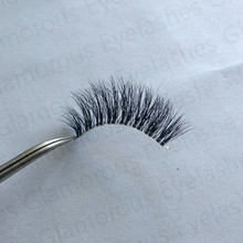 AH18T handmade beauty false eye lashes thick crossing 3D mink full strip lashes invisible clear band natural fake eye lash