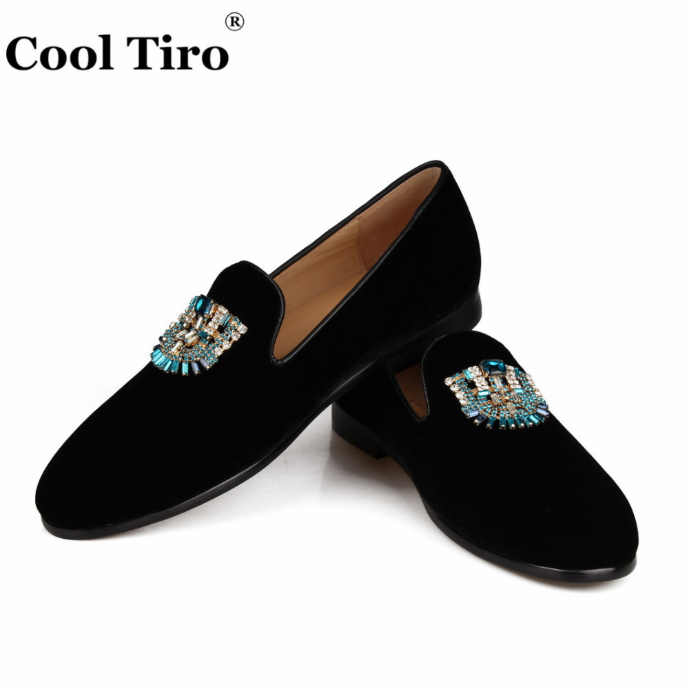 VELVET Loafers SLIPPERS with Crystal brooch (8)