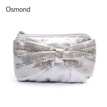 Osmond Fashion Women Coin Wallets Paillette Wallet Small Multifunction Phone Coin Purse Knot Design Pouch Sweet Girl Card Holder