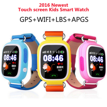 New GPS Q90 Touch Screen WIFI Position Smart Watch Children SOS Call Location finder tracker PK Q50 Q60 for mobile Phone Watch