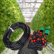 25M DIY Automatic Micro Drip Irrigation System Plant Watering Garden Hose Kits With Adjustable Dripper Smart Controller Suits(China)
