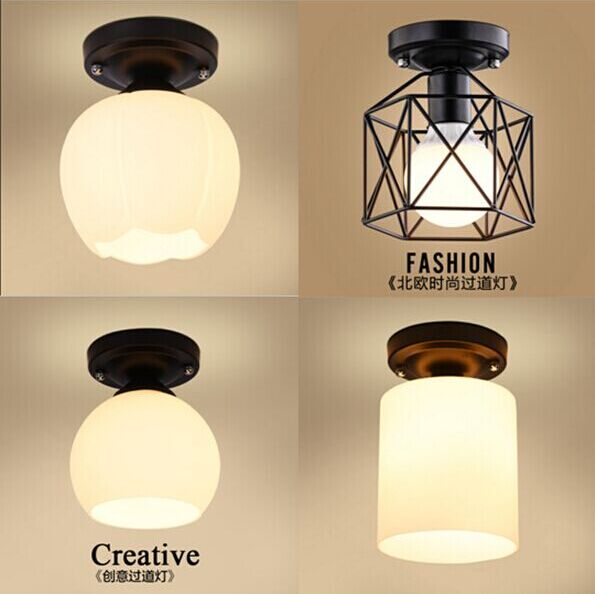 A1 Flower type The American village living room Pendant Lights study hallway modern minimalist porch bedside LED pendant lamp<br>