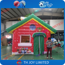 4mLx3mWx3mH full printing outdoor inflatable santa house,inflatable christmas santa grotto for sale,inflatable santa house tent