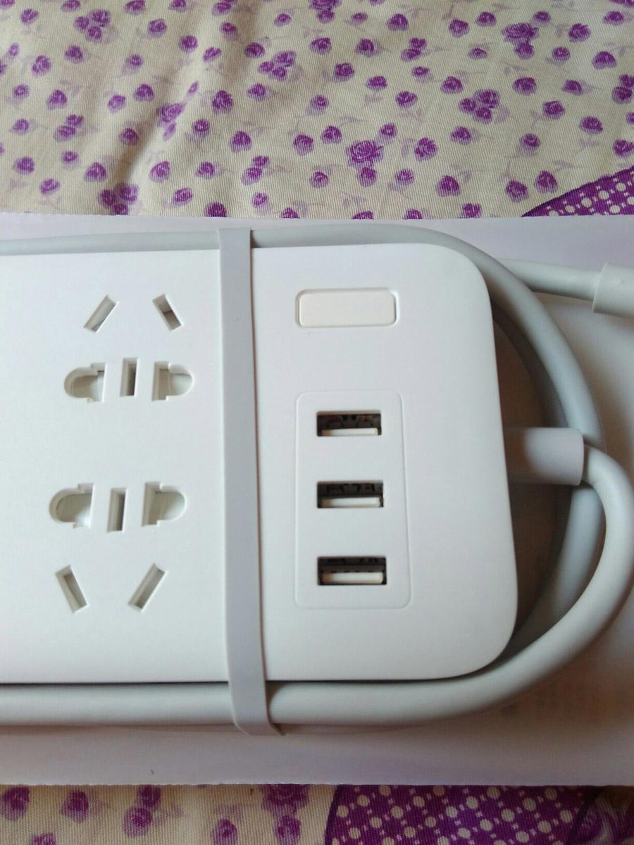 Original Xiaomi Smart Power Strip 2.1A Fast Charging 3 USB Extension Socket Plug 6 Standard Socket Adapter (33)