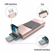 Pen Drive for apple iphone 6s USB Flash Drive 32gb USB Stick andorid 4.5+ OTG Pendrive U Disk 3 in 1 memory stick USB 2.0