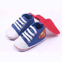 Autumn 2016 Superman Baby First Walkers soft sole prewalker Shoes Newborn toddler boys girls antislip bebes sapatos age 1661(China)