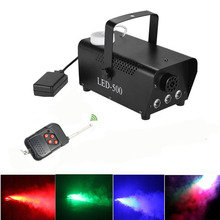 Hot sell remote control RGB Led change color Smoke Machine 400W Water-Based Special Effects colorful Fog Machine(China)