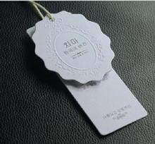 customized letterpress garment tags/hang tag/clothing labels/paper tags printing brand logo/dress tags/woven label