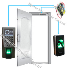 Fingerprint Enter and Exit Door Access Control Kit Biometric Access Controller+Fingerprint Reader+UPS+Digital Electric Magnetic