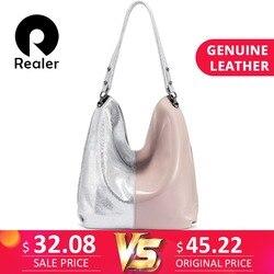 REALER большая сумка женская натуральная кожа сумка женская через плечо сумки женские из натуральной кожи на лето 2019 пинк