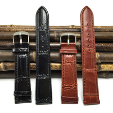 brown PU leather Watchband 20mm relogio Soft Sweatband 2017 pin Buckle black wristwatch watch straps 20mm watch band 20MM J011