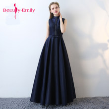 Royal blue beading Prom Gown A Line Long Evening Dresses lace Up satin  Homecoming dress pink Party Elegant Vestido De Festa c06a3fe61c76