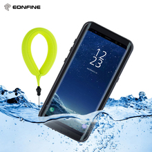 EONFINE For Samsung Galaxy S8 Waterproof Case Shockproof Cover Transparent 360 Full Protection For Samsung S8 Case Swimming