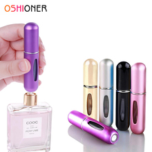 OSHIONER 5ml Refillable Mini Perfume Spray Bottle Aluminum Spray Atomizer Portable Travel Cosmetic Container Perfume Bottle(China)