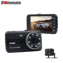 Buy Gotomato New 4.0 Inch IPS Screen Dual Lens Video Recorder 8 LED Car Rearview Camera Full HD 1080P Dash Cam Night Vision Dashcam for $37.79 in AliExpress store