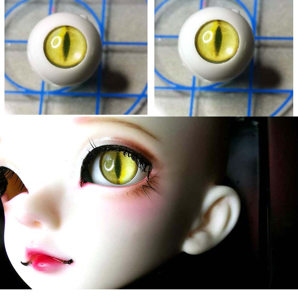 Wholesale 6 Pair of 12MM variety of Blue Glass BJD Eyes For BJD Doll by randomly