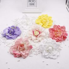 2pcs/lot  Dia 12cm Big Artificial Silk Peony Flower Heads DIY Decorative Flowers Wedding Dance Costume Backdrop Wall Decoration