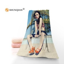 Custom Cher Lloyd Printed Microfiber Beach Towel 35x75cm & 70x140cm Travel Sport Drying Bath Towels Face towel(China)