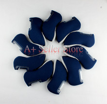 10pcs Blue Neoprene Golf Club Head Cover Wedge Iron Protective Headcovers