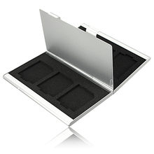 Newest 6 Slots Top Quality Dougle-desk Aluminum Storage Box For SD SDHC SDXC MMC Memory Card Case Holder Protector Free Shipping