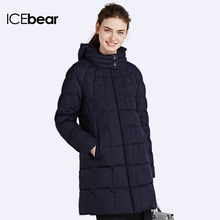 ICEbear 2016 Four Colos Thick Warm Winter Cotton Tall Collar Women Padded Coat And Long Jacket Women's  Parka 16G6221P