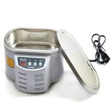 2015 Free shipping Update DA-968 220V Stainless Steel Ultrasonic Cleaner Machine with LED For Jewelry Glasses Circuit Board Free