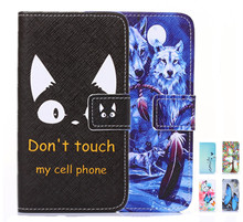 Black eye Cartoon Flower Flip Wallet PU Leather Case For Sony Xperia M4 Aqua Z1 L39H Z1 Compact Z3 L55T D6603 Card Holder Cover