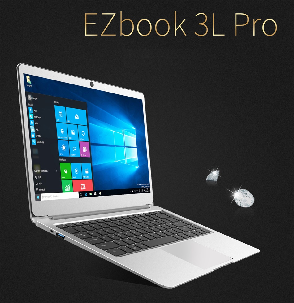 Jumper EZbook 3L Pro Business Laptop Windows 10 Intel Apollo Lake N3450 6GB RAM 64GB eMMC Display Dual Band Wifi USB 3 notebook (1)