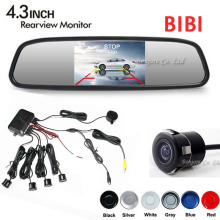 3in1 Dual Core CPU 4 Parking Sensors Car mirror monitor TFT + Reverse Rear View camera Assist Backup Radar Alarm Monitor System(China)