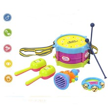 5pcs Drum Set Musical Instruments Playing Set Colorful Educational Baby Kids Roll Drum Musical Instruments Band Kit Children Toy