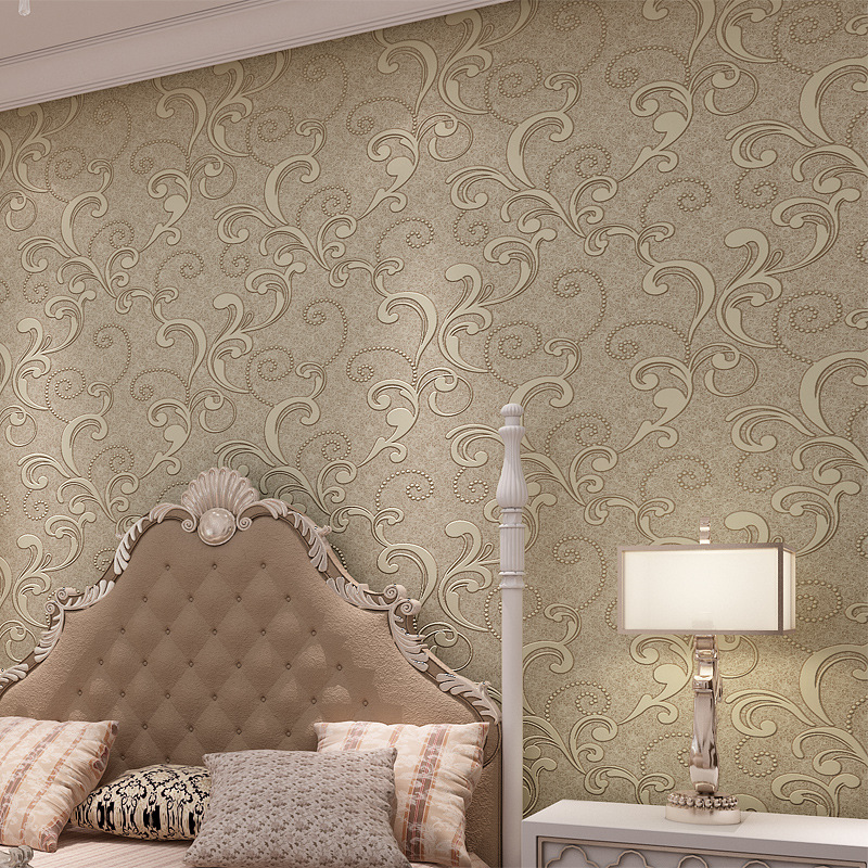 beibehang Modern simple three - dimensional 3d large European - style non - woven  wallpapers living room  TV wallpapers<br>