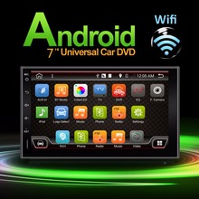 2 Din Android 4.4 Full-Touch Car PC Tablet double Audio 7'' GPS Navi Car Stereo Radio No-DVD mp3 Player Bluetooth iPod vw Stereo